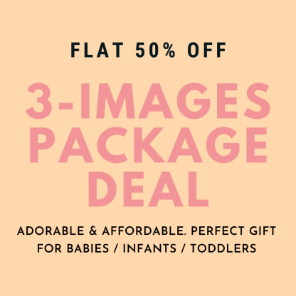 3 Images Photography Package - Baby Girl -  0-12 months