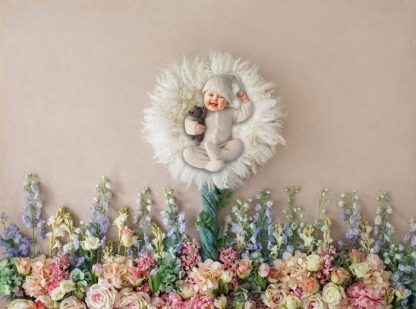 My Lil munchkin with elegant flowers | 0-12M Photoshoot | Baby Face - Littleaarchi
