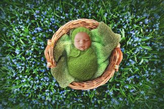 Supergreen basket | Newborn Photography - Littleaarchi