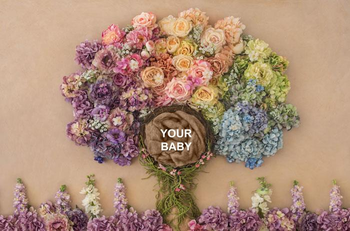 Baby n Gorgeous colorful flower tree | Infant, Toddler Baby Photography - Littleaarchi
