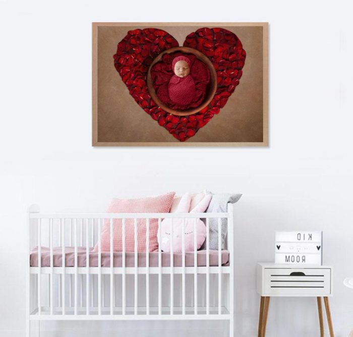 3 Images Photography PRINT + FRAME Package - Baby Girl - 0-6 months - Littleaarchi