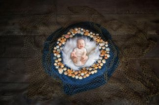 Stones n Net | Full Baby Photography Backdrop - Littleaarchi