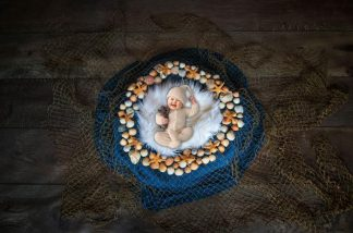 Stones n Net | Baby Face Photography Backdrop - Littleaarchi