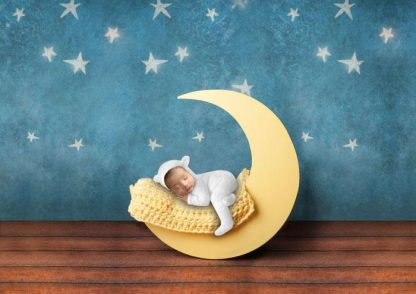 I love yellow moon | Baby Photography backdrop - Littleaarchi