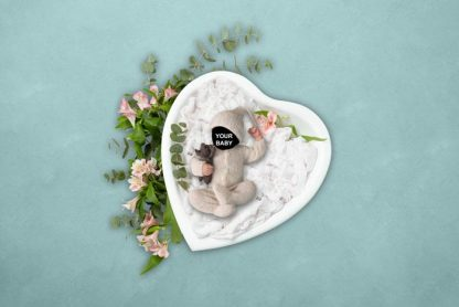 My lovely heart   Baby Face Photography background - Littleaarchi